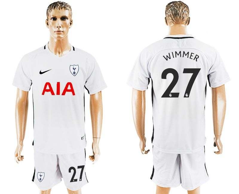 Men 2017-2018 club Tottenham Hotspur home 27 white soccer jersey1
