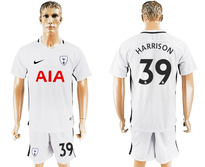 Men 2017-2018 club Tottenham Hotspur home 39 white soccer jersey1