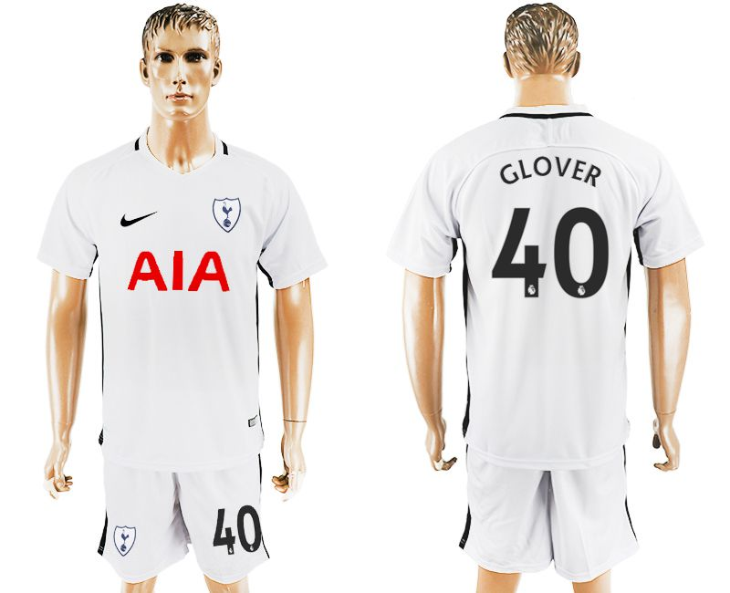 Men 2017-2018 club Tottenham Hotspur home 40 white soccer jersey1