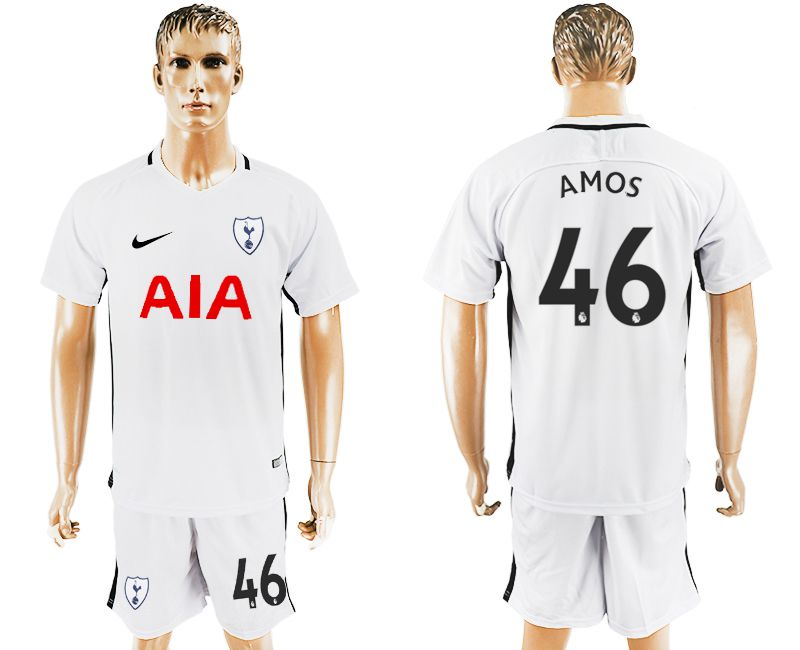 Men 2017-2018 club Tottenham Hotspur home 46 white soccer jersey1
