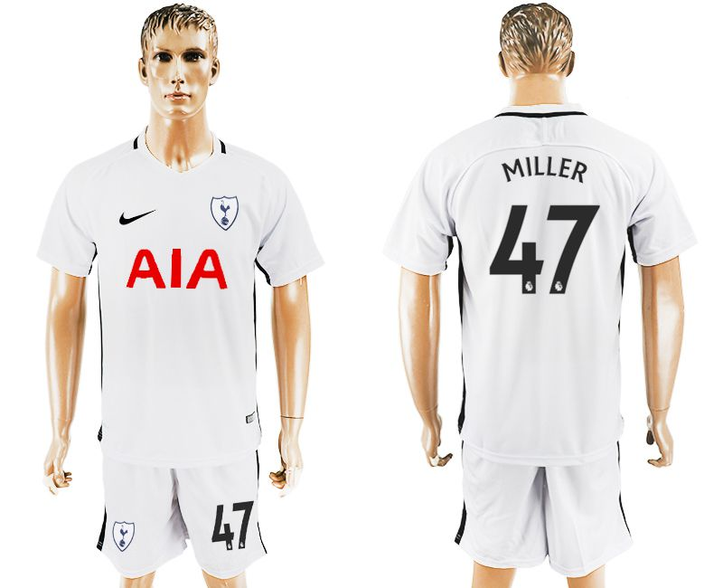 Men 2017-2018 club Tottenham Hotspur home 47 white soccer jersey1