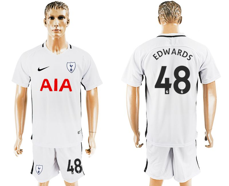 Men 2017-2018 club Tottenham Hotspur home 48 white soccer jersey1