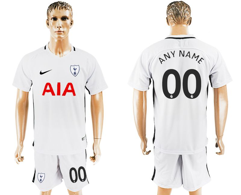 Men 2017-2018 club Tottenham Hotspur home customized soccer jersey1