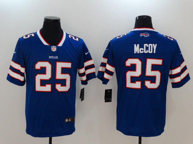 Men Buffalo Bills 25 Mccoy Blue Nike Vapor Untouchable Limited NFL Jerseys