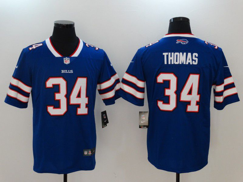 Men Buffalo Bills 34 Thomas Blue Nike Vapor Untouchable Limited NFL Jerseys