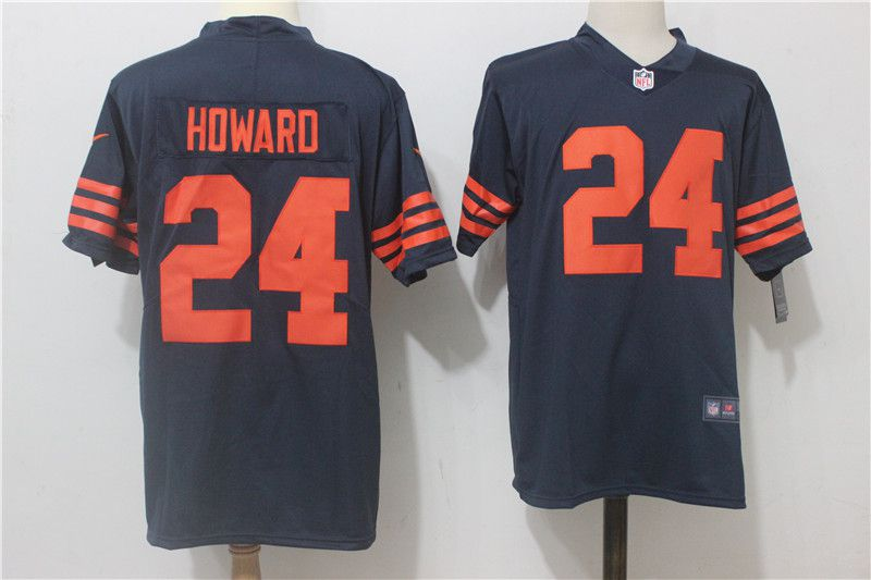 Men Chicago Bears 24 Jordan Howard Blue Orange Nike Vapor Untouchable Limited NFL Jerseys