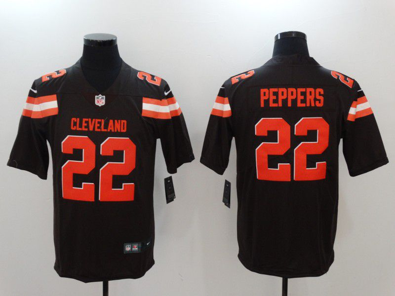 Men Cleveland Browns 22 Peppers Brown Nike Vapor Untouchable Limited NFL Jerseys