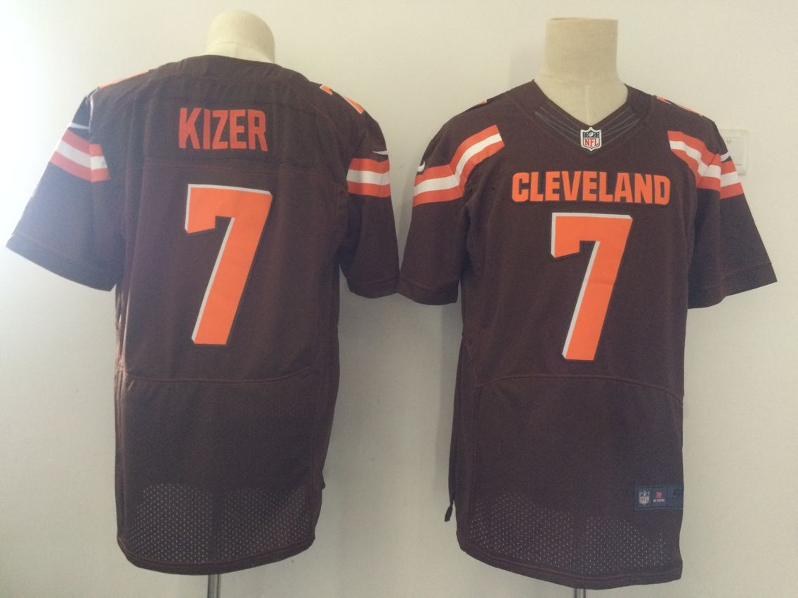 Men Cleveland Browns 7 Kizer Brown Elite Nike NFL Jerseys