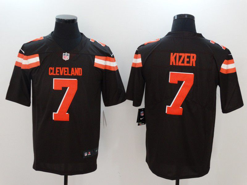 Men Cleveland Browns 7 Kizer Brown Nike Vapor Untouchable Limited NFL Jerseys
