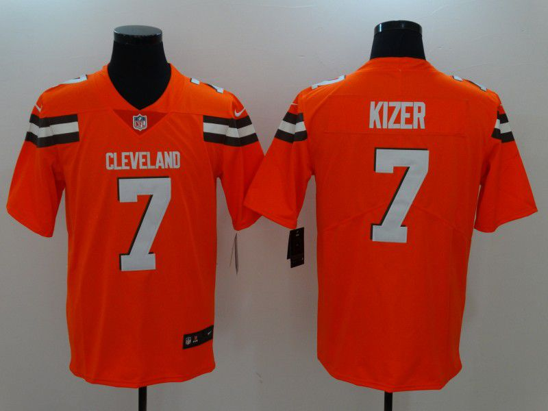 Men Cleveland Browns 7 Kizer Orange Nike Vapor Untouchable Limited NFL Jerseys