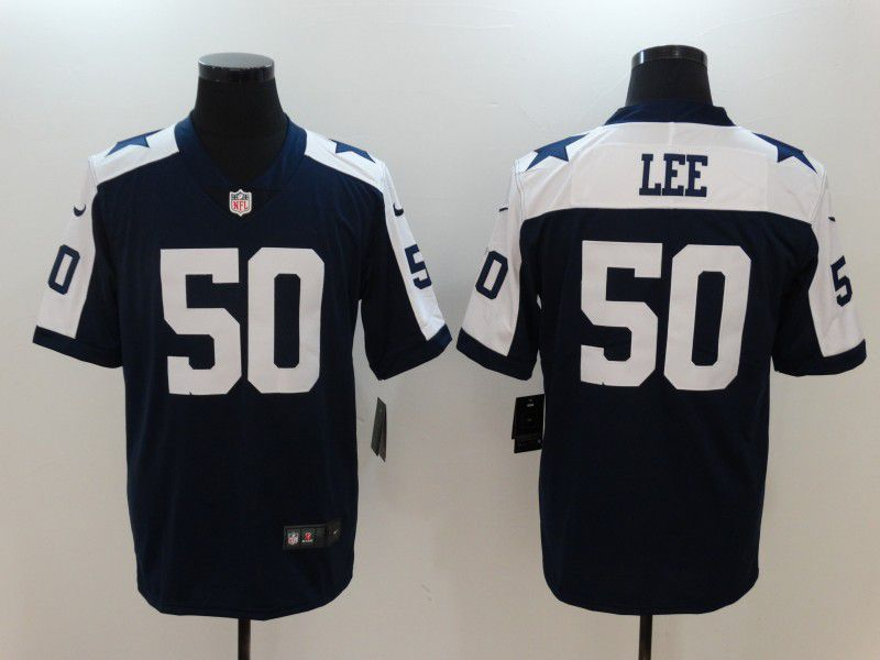 Men Dallas Cowboys 50 Sean Lee Blue Thanksgiving Nike Vapor Untouchable Limited NFL Jerseys