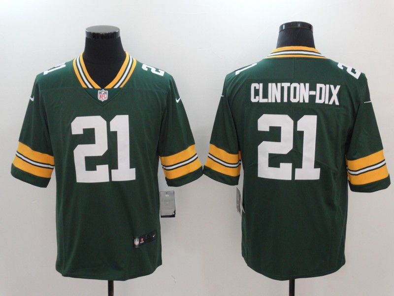 Men Green Bay Packers 21 Clinton-dix Green Nike Vapor Untouchable Limited NFL Jerseys
