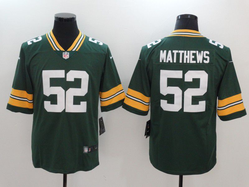 Men Green Bay Packers 52 Matthews Green Nike Vapor Untouchable Limited NFL Jerseys