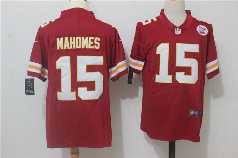 Men Kansas City Chiefs 15 Mahomes Red Nike Vapor Untouchable Limited NFL Jerseys