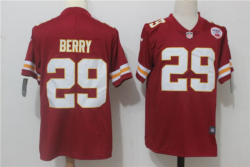 Men Kansas City Chiefs 29 Berry Red Nike Vapor Untouchable Limited NFL Jerseys