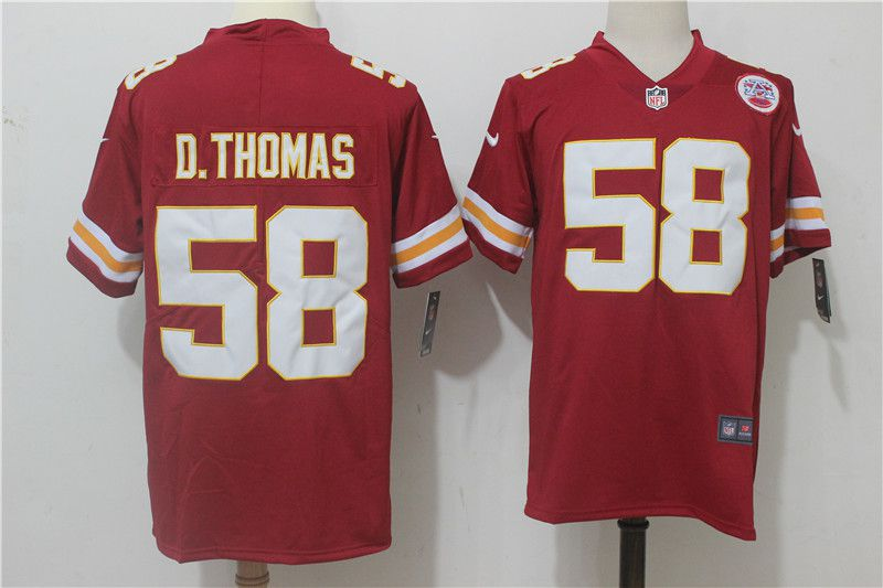 Men Kansas City Chiefs 58 D.Thomas Red Nike Vapor Untouchable Limited NFL Jerseys
