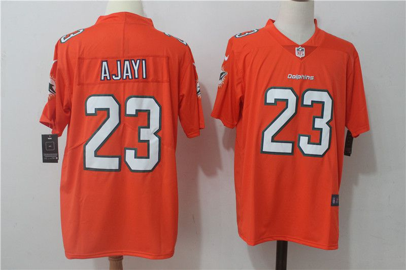 Men Miami Dolphins 23 Ajayi Orange Nike Vapor Untouchable Limited NFL Jerseys