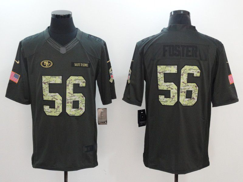 Men San Francisco 49ers 56 Foster Green Nike Salute to Service Limited NFL Jersey