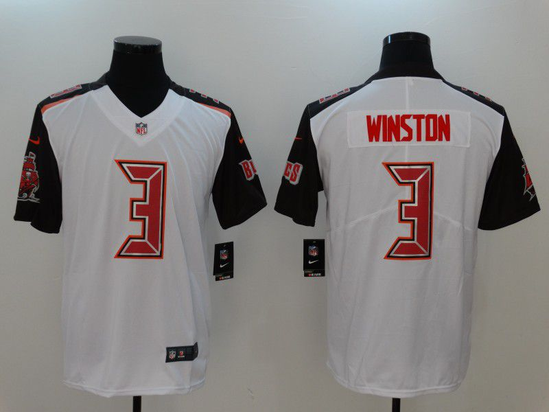 Men Tampa Bay Buccaneers 3 Winston White Nike Vapor Untouchable Limited NFL Jerseys