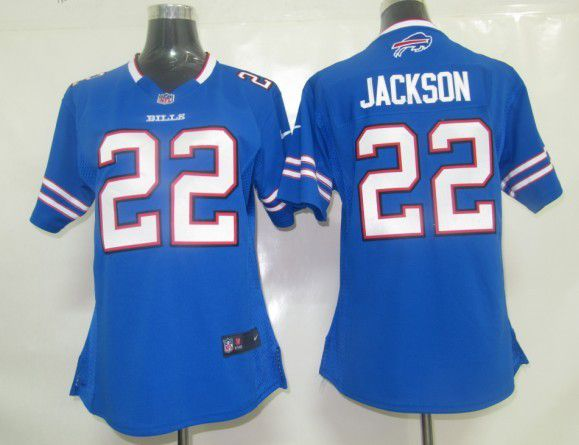 Women Buffalo Bills 22 Jackson Blue Nike NFL Jerseys