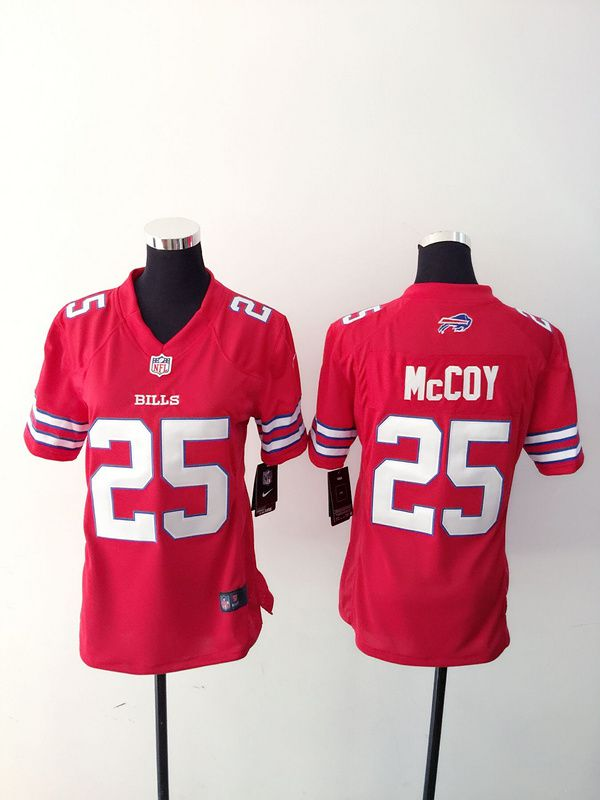 Women Buffalo Bills 25 LeSean McCoy Red Nike NFL Jerseys
