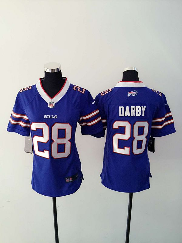 Women Buffalo Bills 28 Darby Blue Nike NFL Jerseys