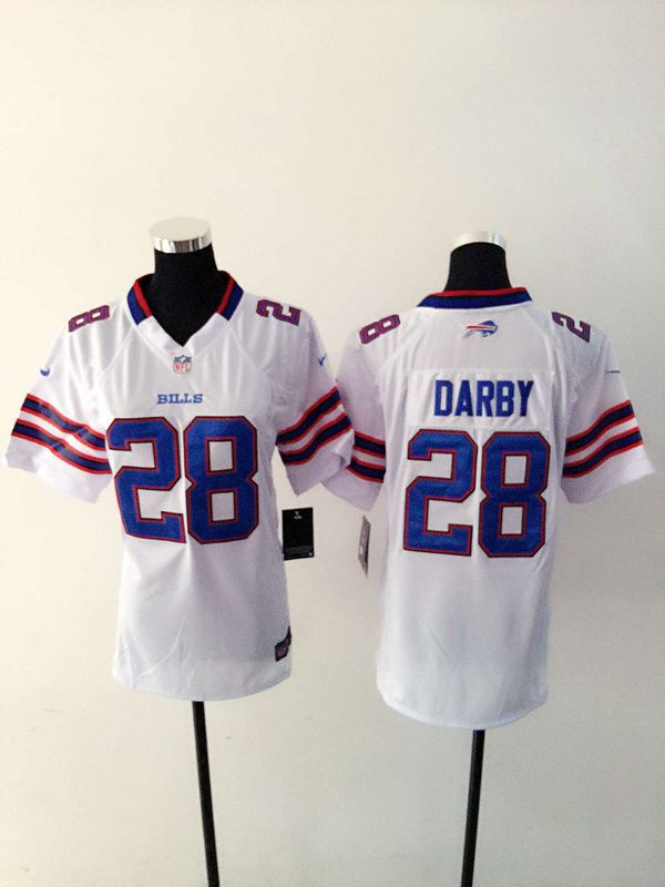 Women Buffalo Bills 28 Darby White Nike NFL Jerseys