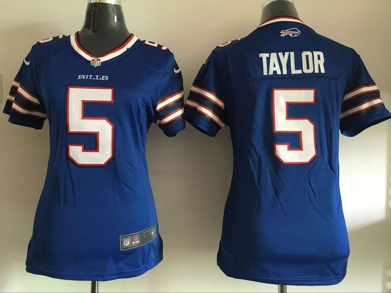 Women Buffalo Bills 5 Taylor Blue Nike NFL Jerseys
