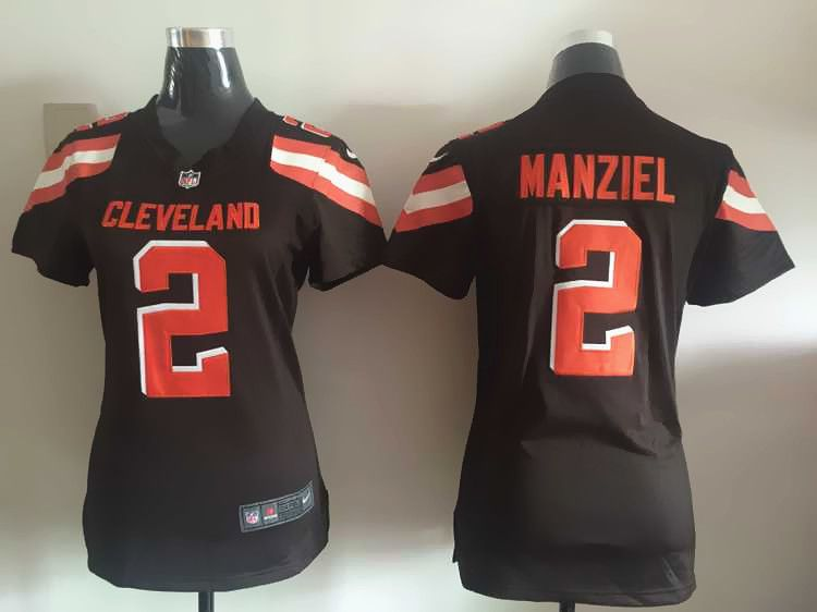 Women Cleveland Browns 2 Manziel Brown Nike NFL Jerseys