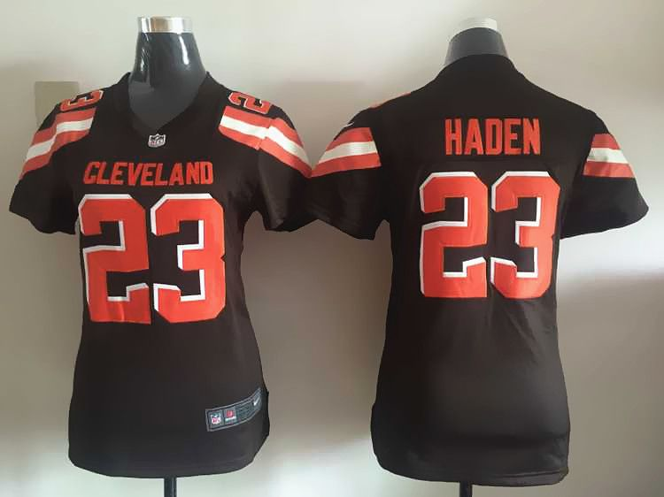 Women Cleveland Browns 23 Haden Brown Nike NFL Jerseys