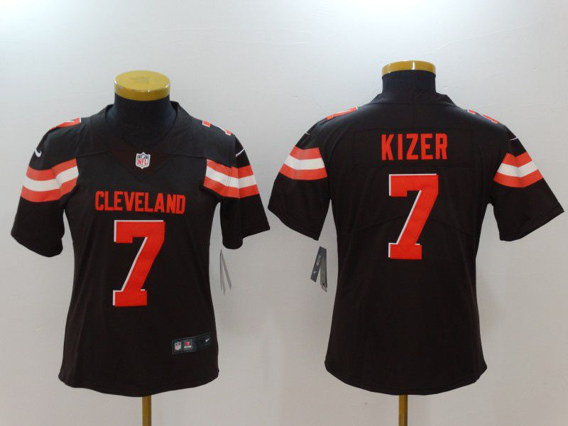 Women Cleveland Browns 7 Kizer Brown Nike Vapor Untouchable Limited NFL Jerseys