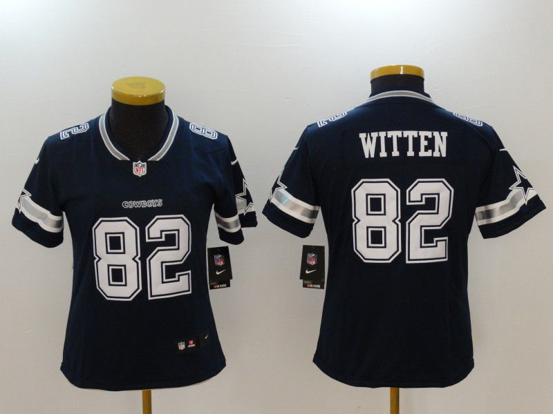 Women Dallas Cowboys 82 Witten Blue Nike Vapor Untouchable Limited NFL Jerseys