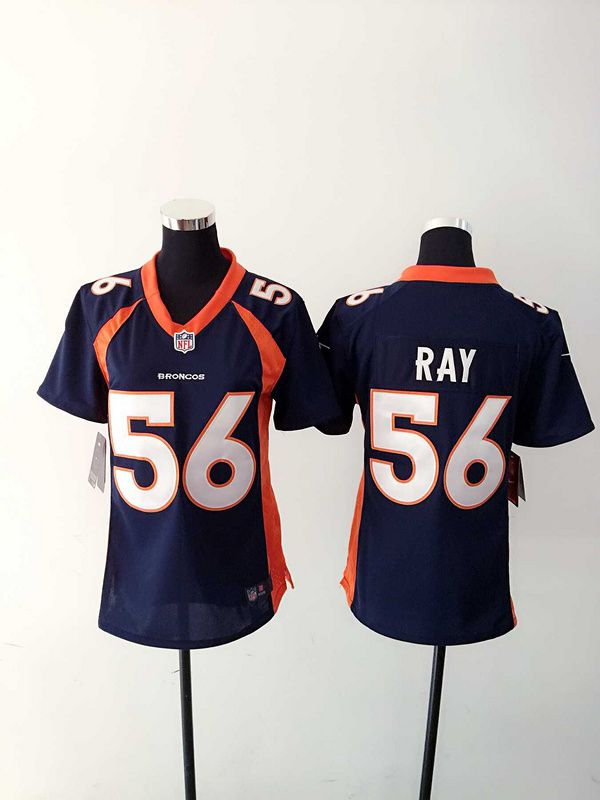 Women Denver Broncos 56 Shane Ray Blue Nike NFL Jerseys