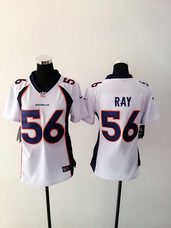 Women Denver Broncos 56 Shane Ray White Nike NFL Jerseys
