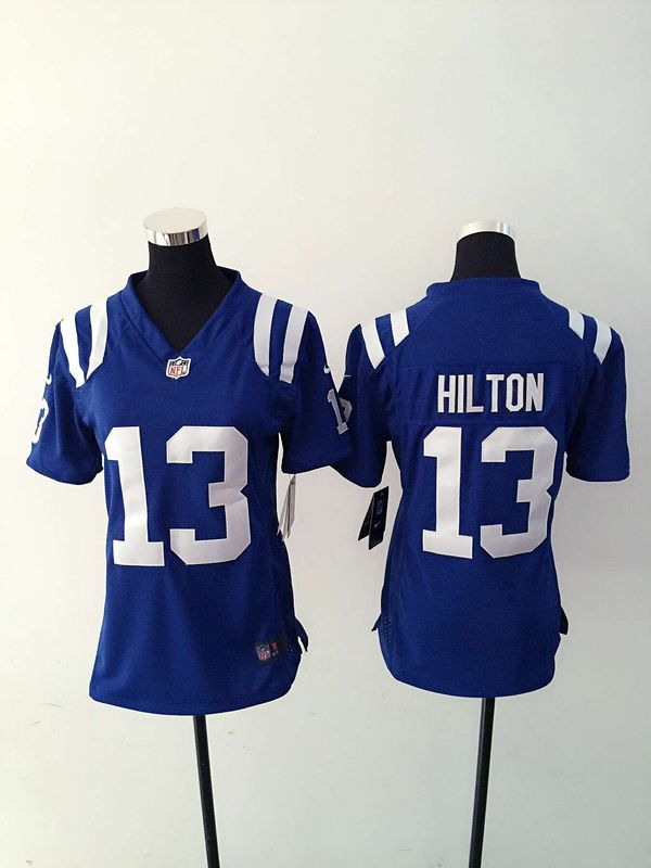 Women Indianapolis Colts 13 T.Y. Hilton Blue Nike NFL Jerseys