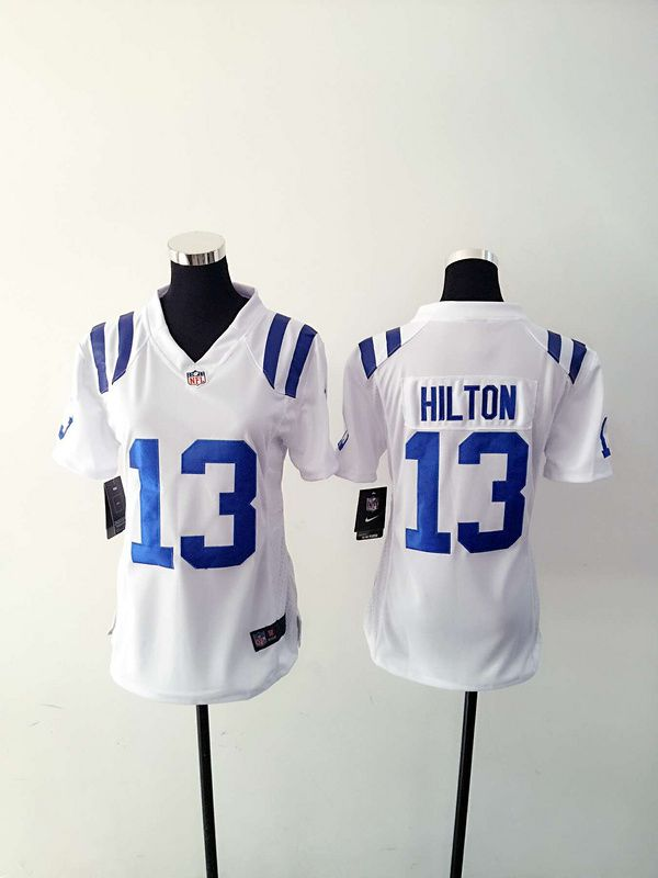 Women Indianapolis Colts 13 T.Y. Hilton White Nike NFL Jerseys