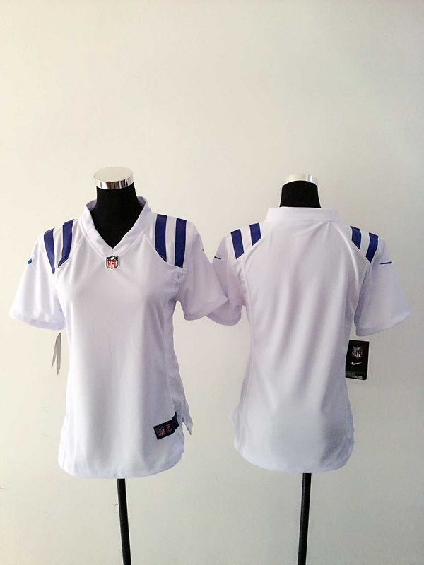 Women Indianapolis Colts Blank White Nike NFL Jerseys