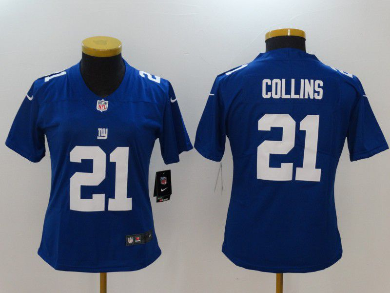 Women New York Giants 21 Collins Blue Nike Vapor Untouchable Limited NFL Jerseys