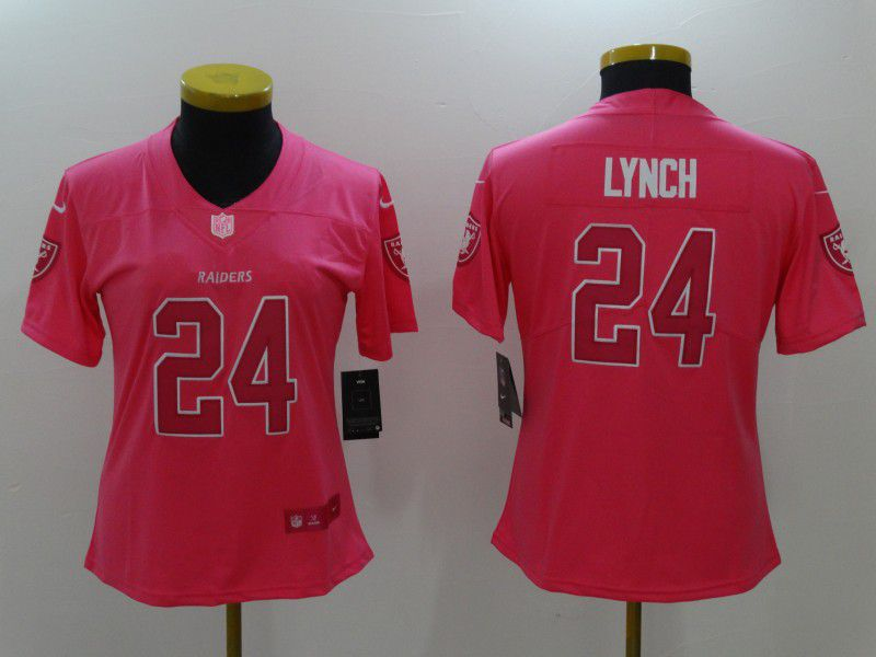Women Oakland Raiders 24 Lynch Pink Nike Vapor Untouchable Limited NFL Jerseys1