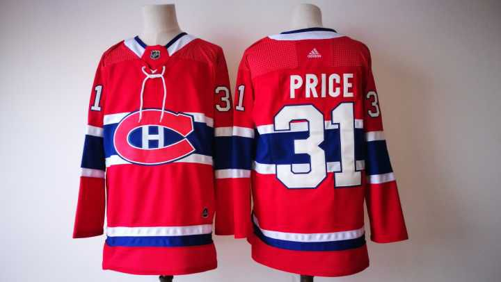 2017 Men NHL Montreal Canadiens 31 Price Adidas red jersey