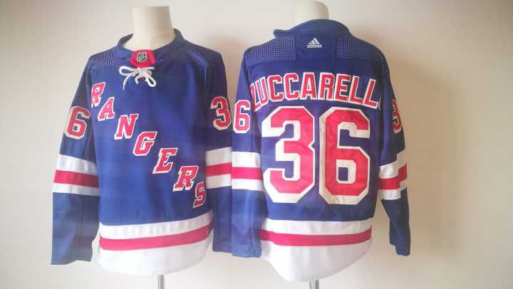 2017 Men NHL New York Rangers 36 Zuccarello Adidas blue jersey
