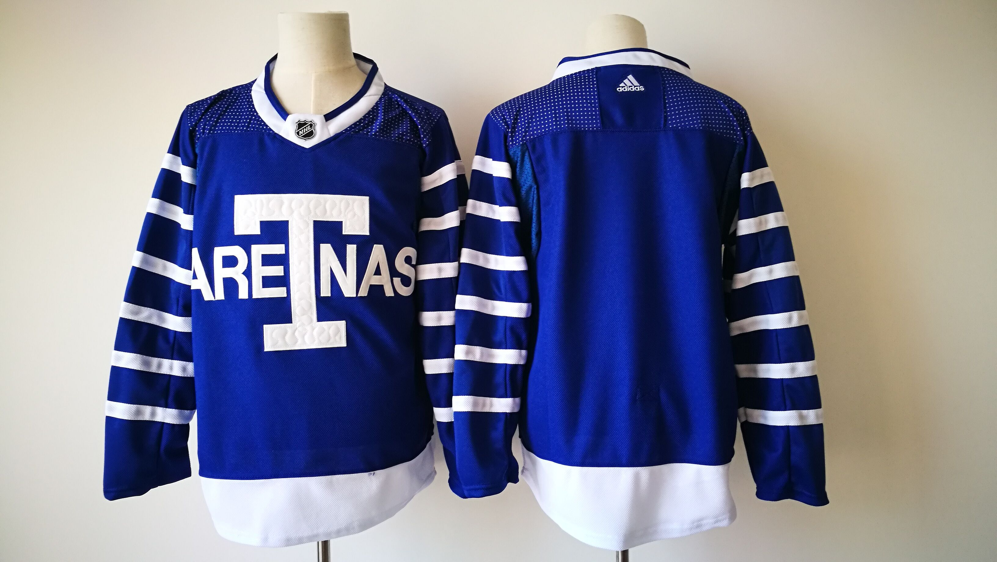 2017 Men NHL Toronto Maple Leafs Blank Adidas blue jersey