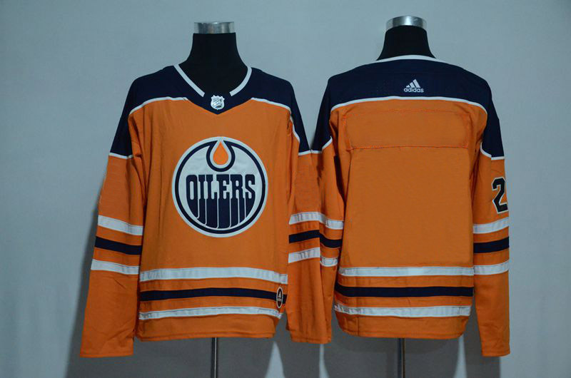 Customized Men 2017 NHL Edmonton Oilers Blank orange Adidas jersey