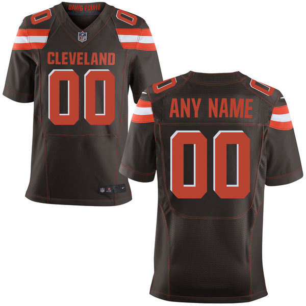 Customized Men Cleveland Browns Nike Brown Elite Custom Jersey