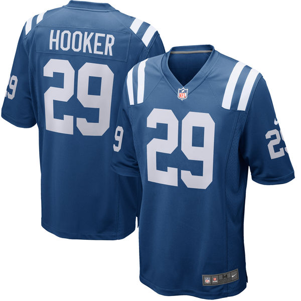 Customized Men Indianapolis Colts 29 Malik Hooker Nike Royal 2017 Draft Pick Game Jersey
