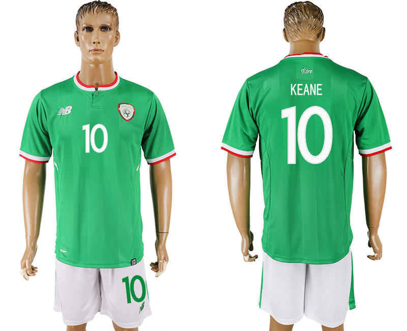 Hommes 2017-2018 National Ireland Republic domicile 10 vert football jersey