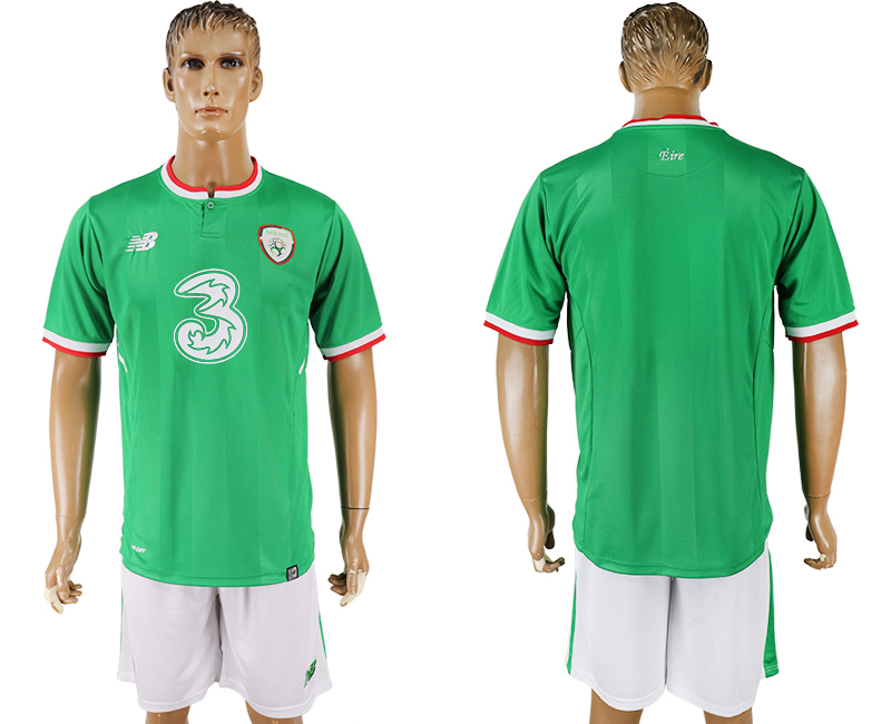 Men 2017-2018 National Ireland Republic home blank green soccer jersey