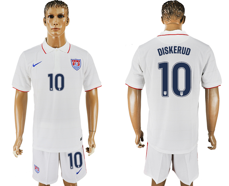 Men 2017-2018 National United States home 10 white soccer jersey