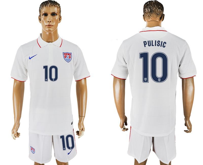 Men 2017-2018 National United States home 10 white soccer jersey1