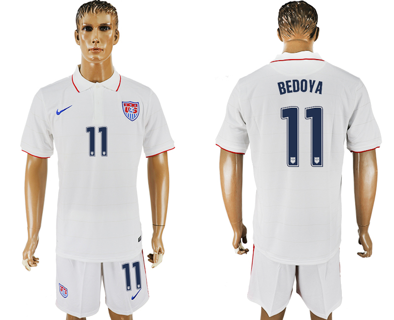 Men 2017-2018 National United States home 11 white soccer jersey